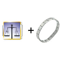 Items from KS - scales of law and justice combination Image.
