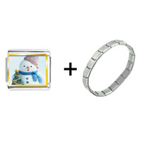Items from KS - snowman with christmas tree combination Image.
