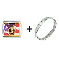 Items from KS - american flag purple heart combination Image.