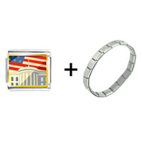 Items from KS - american flag whitehouse combination Image.