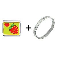 Items from KS - heart strawberry combination Image.