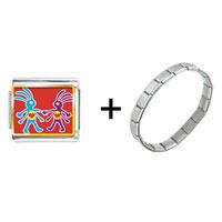 Items from KS - colorful kokopelli heart combination Image.