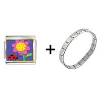 Items from KS - ladybug flower combination Image.