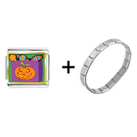 Items from KS - jack o lantern halloween pumpkin candy bag combination Image.
