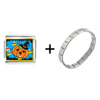 Items from KS - jack o lantern halloween pumpkin candy corn combination Image.