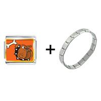 Items from KS - bulldog dog with bone combination Image.