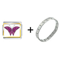 Items from KS - purple and pink butterfly combination Image.