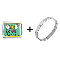 Items from KS - love is to share letter combination Image.