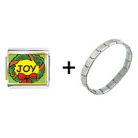 Items from KS - joy christmas wreath combination Image.
