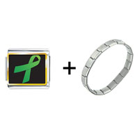 Items from KS - green ribbon awareness combination Image.