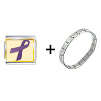Items from KS - purple ribbon awareness combination Image.