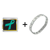 Items from KS - teal ribbon awareness combination Image.