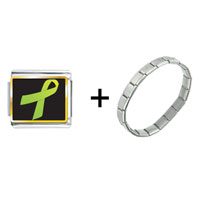 Items from KS - lime green ribbon awareness combination Image.