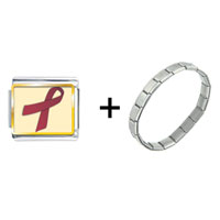 Items from KS - burgundy ribbon awareness combination Image.
