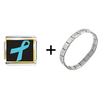 Items from KS - light blue ribbon awareness combination Image.