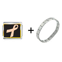 Items from KS - peach ribbon awareness combination Image.
