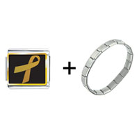 Items from KS - gold ribbon awareness combination Image.