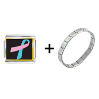 Items from KS - pink and blue ribbon awareness combination Image.