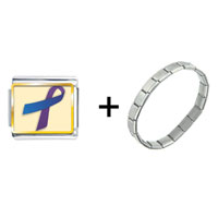 Items from KS - purple and blue ribbon awareness combination Image.