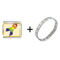 Items from KS - rainbow ribbon awareness combination Image.