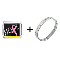 Items from KS - hope pink ribbon awareness combination Image.