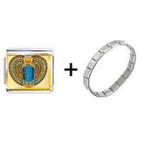 Items from KS - gold plated egyptian khepri photo italian charm combination Image.