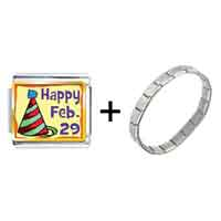 Items from KS - gold plated leap day photo italian charms bracelets combination Image.