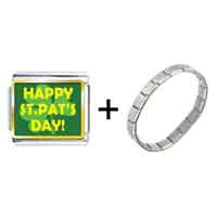 "Items from KS - gold plated st.  patrick' s day theme with"" happy st.  pat' s day""  combination Image."