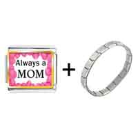 Items from KS - gold plated mother' s day theme photo italian charm always a mom combination Image.
