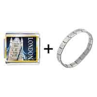Items from KS - gold plated landmark london photo italian charm bracelets Image.