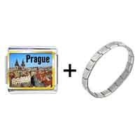 Items from KS - gold plated landmark prague photo italian charm bracelets Image.