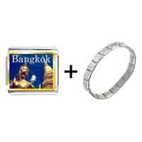 Items from KS - gold plated travel wat phra kaew photo italian charm bracelets Image.