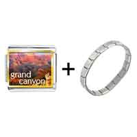 Items from KS - gold plated travel grand canyon photo italian charm bracelets Image.