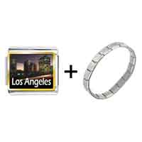Items from KS - gold plated travel los angeles photo italian charm bracelets Image.