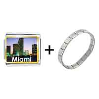 Items from KS - gold plated travel miami photo italian charm bracelets Image.