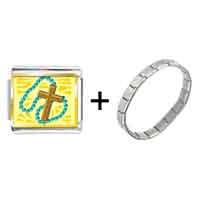 Items from KS - gold plated religion rosary photo italian charm bracelets Image.