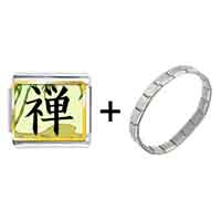 Items from KS - gold plated religion buddhism chan photo italian charm bracelets Image.
