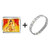 Items from KS - gold plated religion buddha photo italian charm bracelets Image.