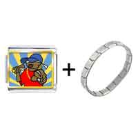 Items from KS - gold plated music black singer photo italian charm bracelets Image.