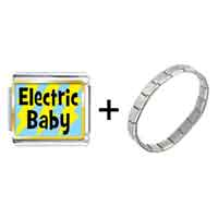 Items from KS - gold plated music theme electric baby photo italian charm bracelets Image.