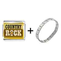 Items from KS - gold plated music theme idyllic country rock photo italian charm bracelets Image.