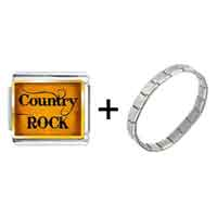 Items from KS - gold plated music theme country rock photo italian charm bracelets Image.