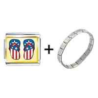 Items from KS - gold plated hobbies usa filp flop photo italian charm bracelets combination Image.