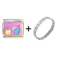 Items from KS - multicolor shopping bag photo italian charm combination Image.