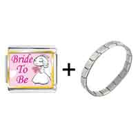 Items from KS - bride to be photo italian charm combination Image.