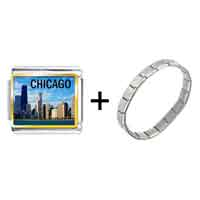 Items from KS - chicago photo italian charm combination Image.