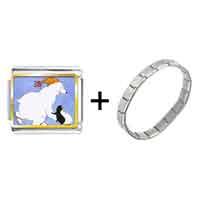 Items from KS - polar bear and penguin photo italian charm combination Image.
