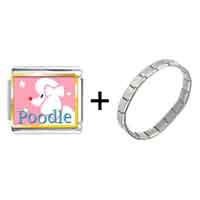 Items from KS - poodle photo italian charm combination Image.