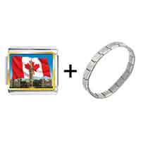 Items from KS - canada photo italian charm combination Image.