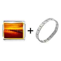 Items from KS - sunset glow photo italian charm combination Image.